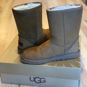 UGG Classic Short Deco Waterproof Leather Boots